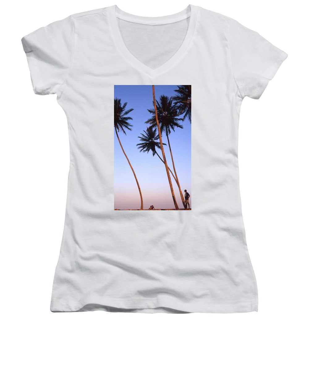 Bahia Women's V-Neck (Athletic Fit) featuring the photograph Dusk In Morro by Patrick Klauss