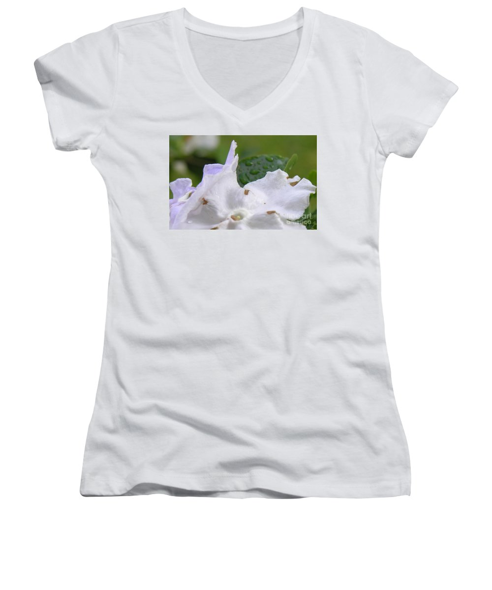 Flower Women's V-Neck T-Shirt featuring the photograph Easter Surprise by Richard Rizzo