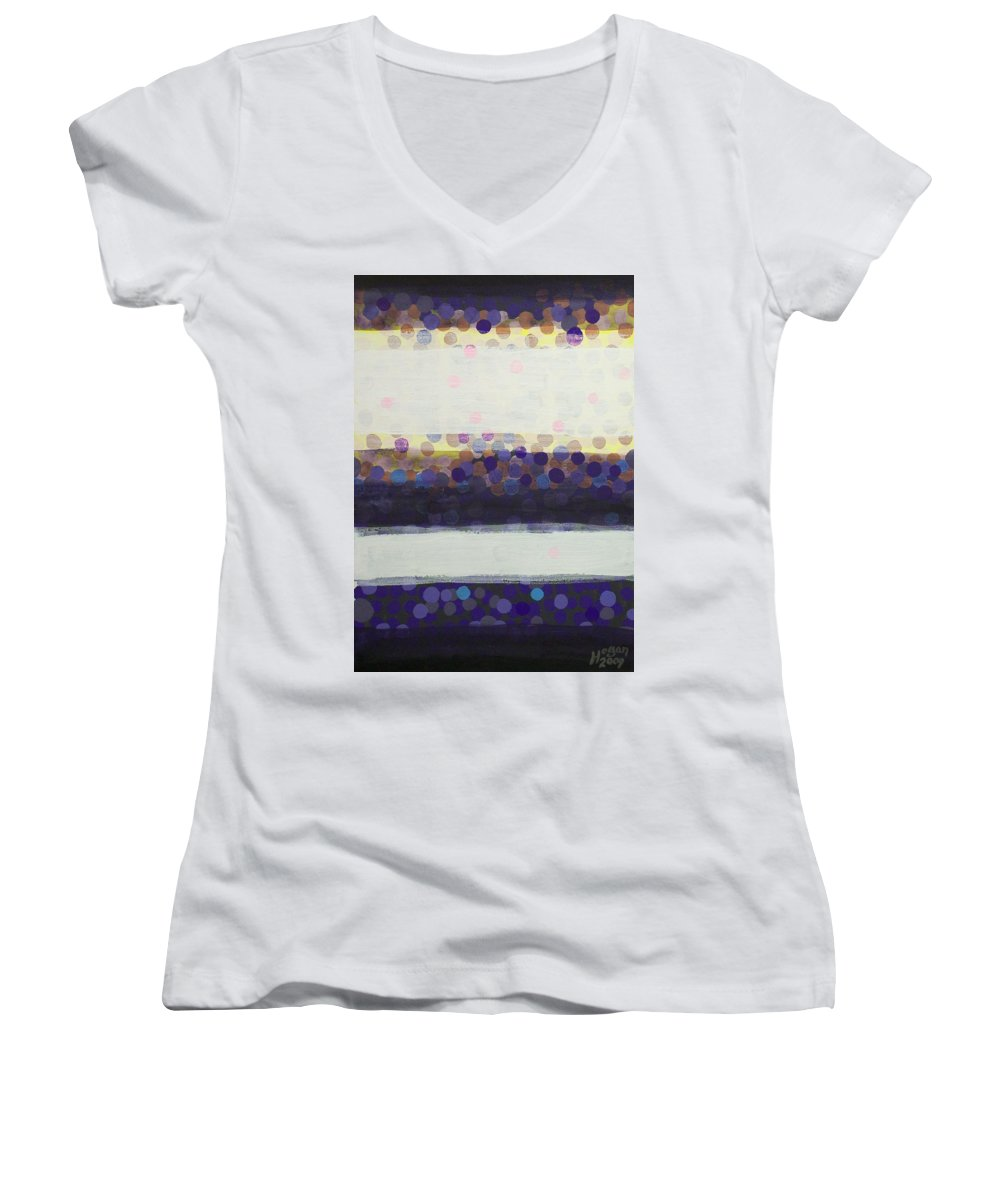 Final Moments Women's V-Neck T-Shirt featuring the painting Final Moments by Alan Hogan