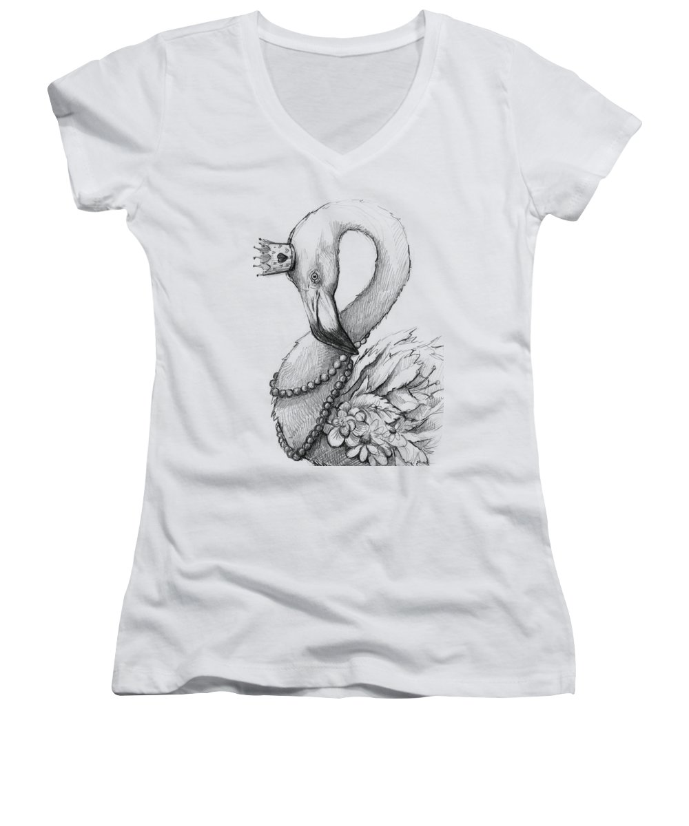 Necklace Women's V-Neck T-Shirts