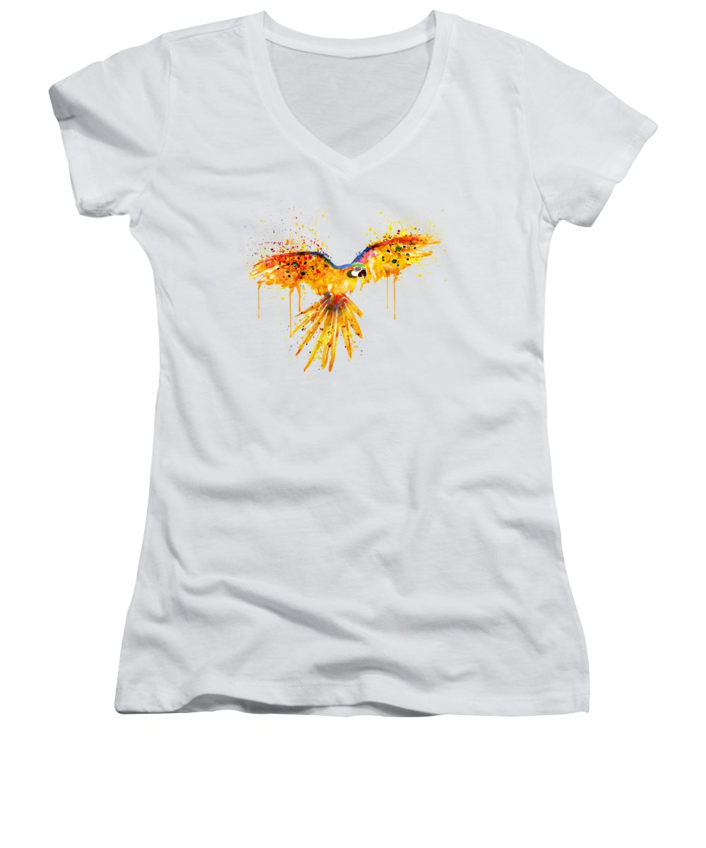 Parrot Women's V-Neck T-Shirts