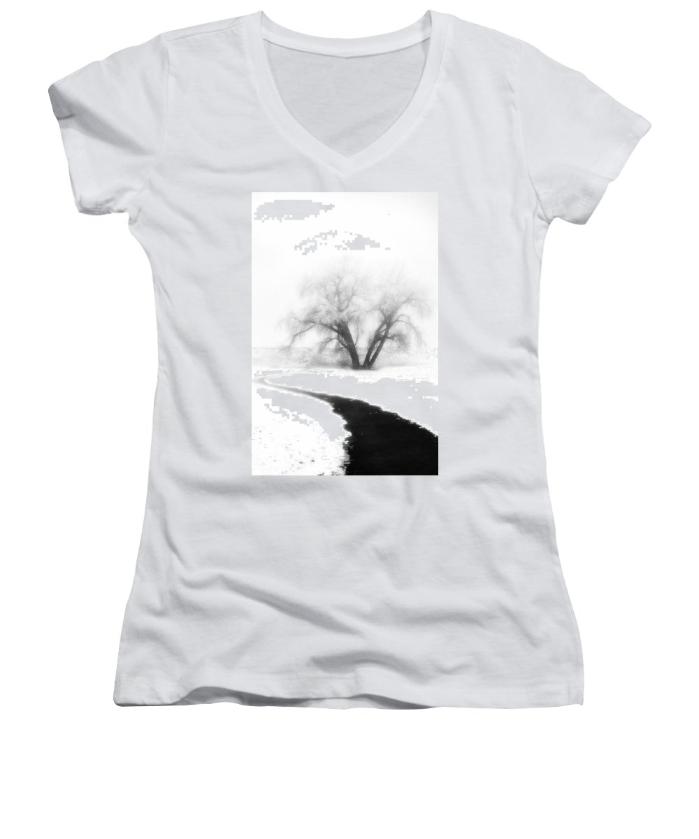 Tree Women's V-Neck (Athletic Fit) featuring the photograph Getting There by Marilyn Hunt