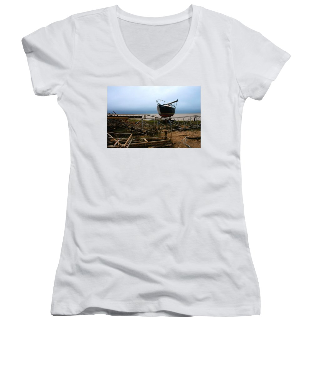 Clay Women's V-Neck T-Shirt featuring the photograph Ghost by Clayton Bruster