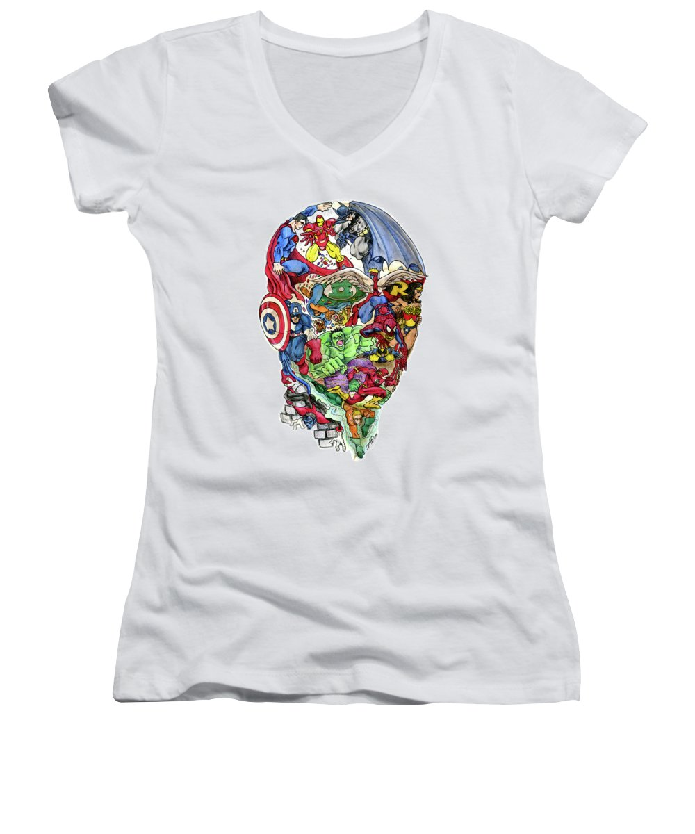 Surrealism Women's V-Neck T-Shirts
