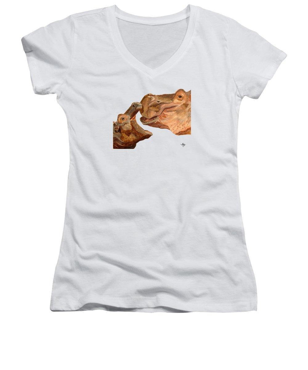 Hippopotamus Junior V-Neck T-Shirts