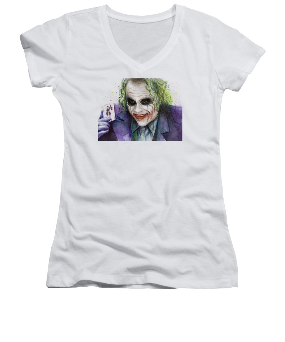 Heath Ledger Women's V-Neck T-Shirts
