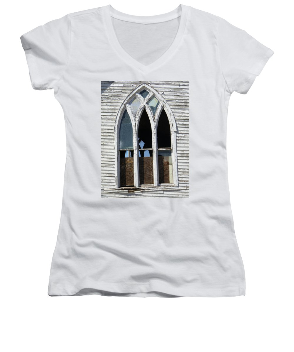 Church Women's V-Neck (Athletic Fit) featuring the photograph Lost by Gale Cochran-Smith