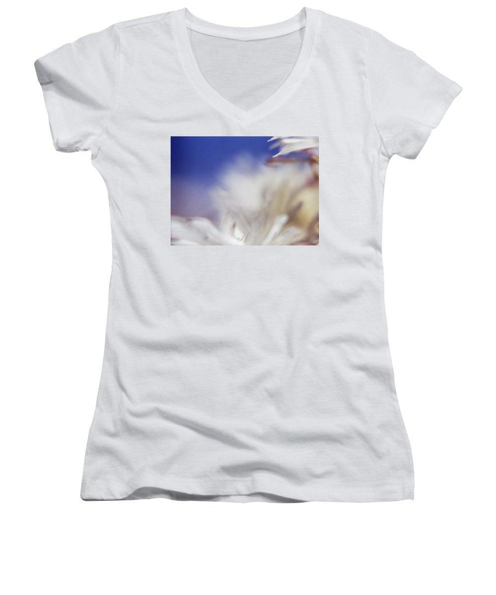 Flower Women's V-Neck T-Shirt featuring the photograph Macro Flower 1 by Lee Santa