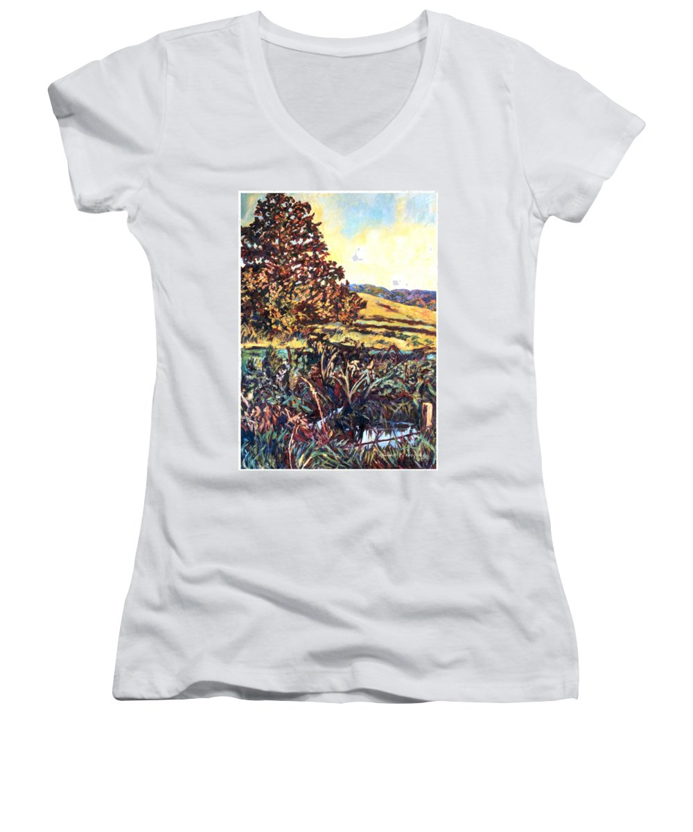 Landscape Women's V-Neck (Athletic Fit) featuring the painting Near Childress by Kendall Kessler