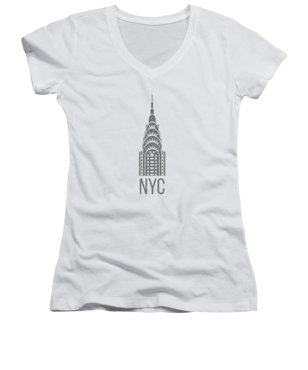 Chrysler Building Women's V-Neck T-Shirts