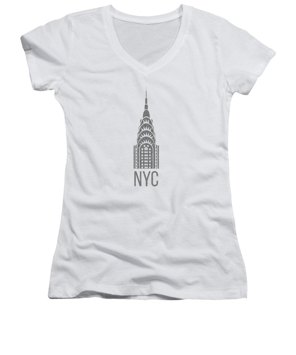 Chrysler Building Women's V-Neck T-Shirts