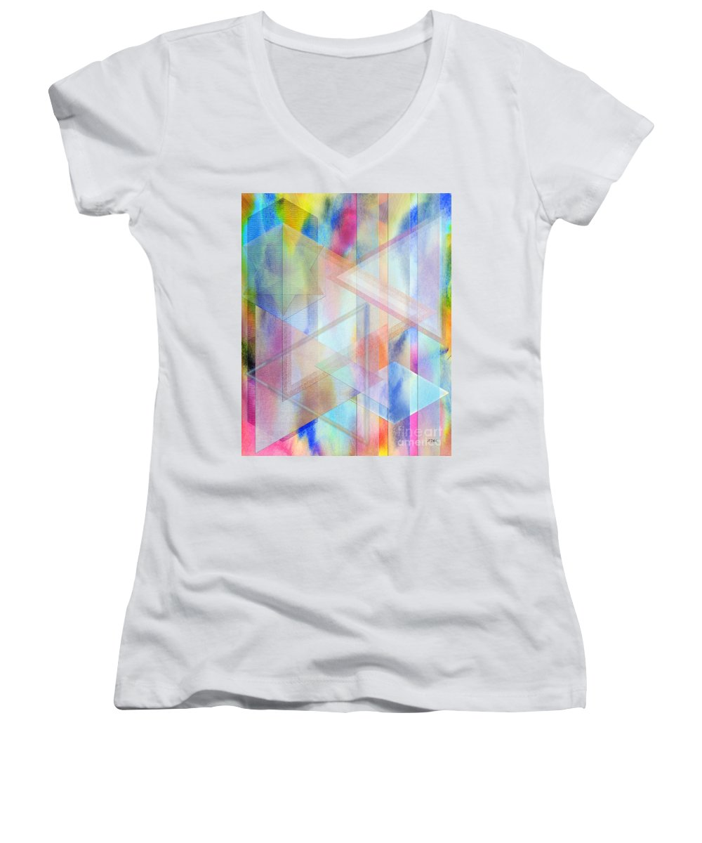 Pastoral Moment Women's V-Neck T-Shirt featuring the digital art Pastoral Moment by John Beck