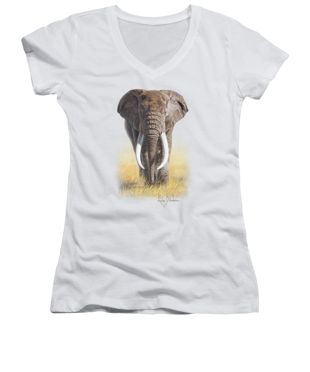 Elephant Women's V-Neck T-Shirts