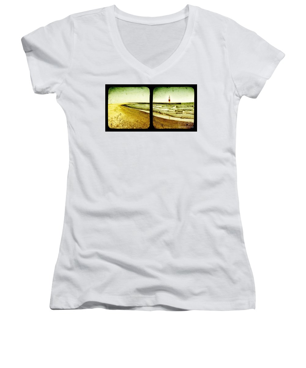 Ttv Women's V-Neck T-Shirt featuring the photograph Reaching For Your Hand by Dana DiPasquale