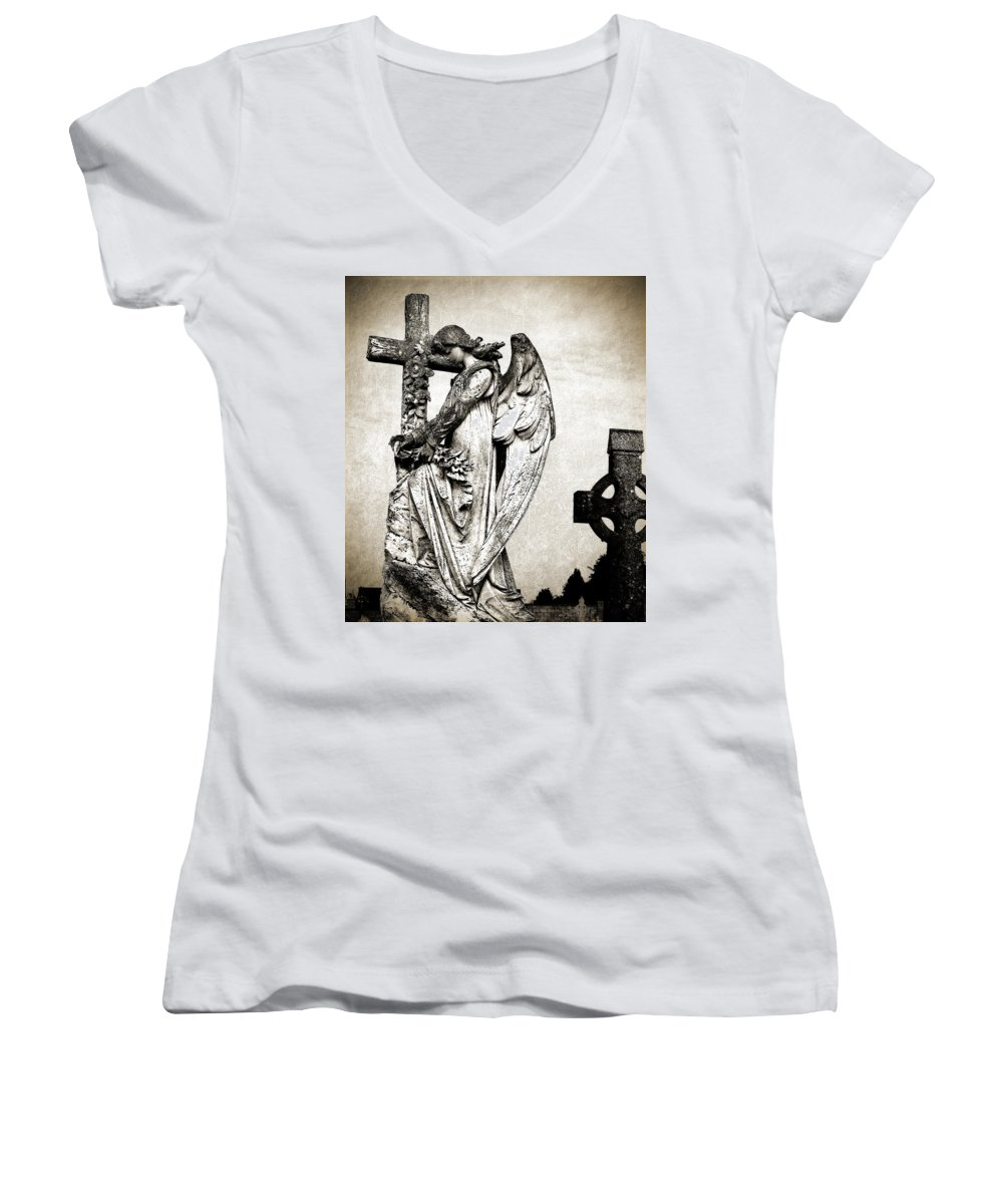 Ireland Women's V-Neck (Athletic Fit) featuring the photograph Roscommon Angel No 1 by Teresa Mucha