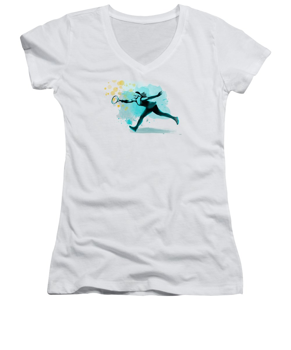 Serena Williams Women's V-Neck T-Shirts