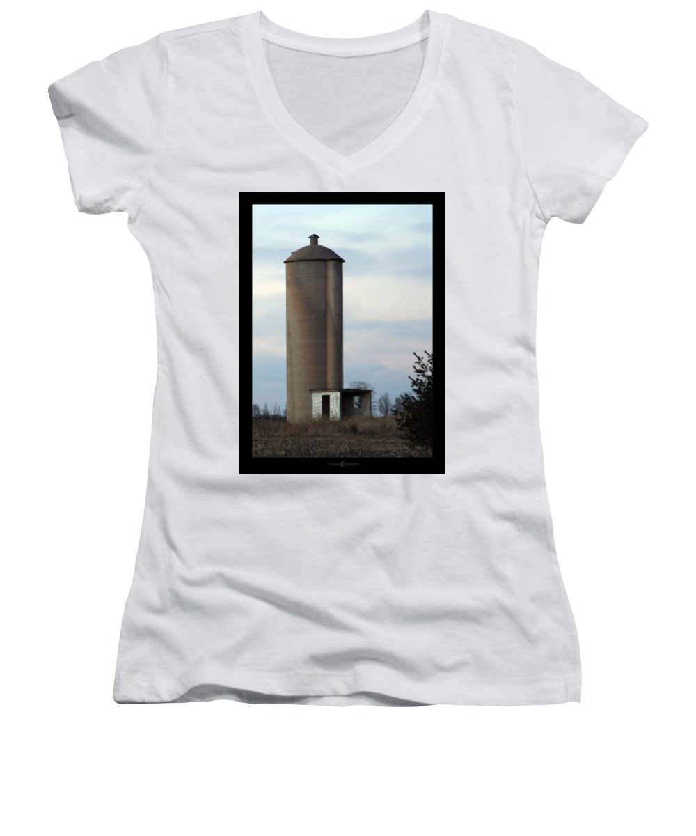 Silo Women's V-Neck (Athletic Fit) featuring the photograph Solo Silo by Tim Nyberg
