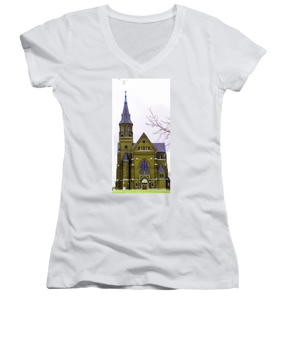 Spire Women's V-Neck (Athletic Fit) featuring the photograph Spire by Albert Stewart