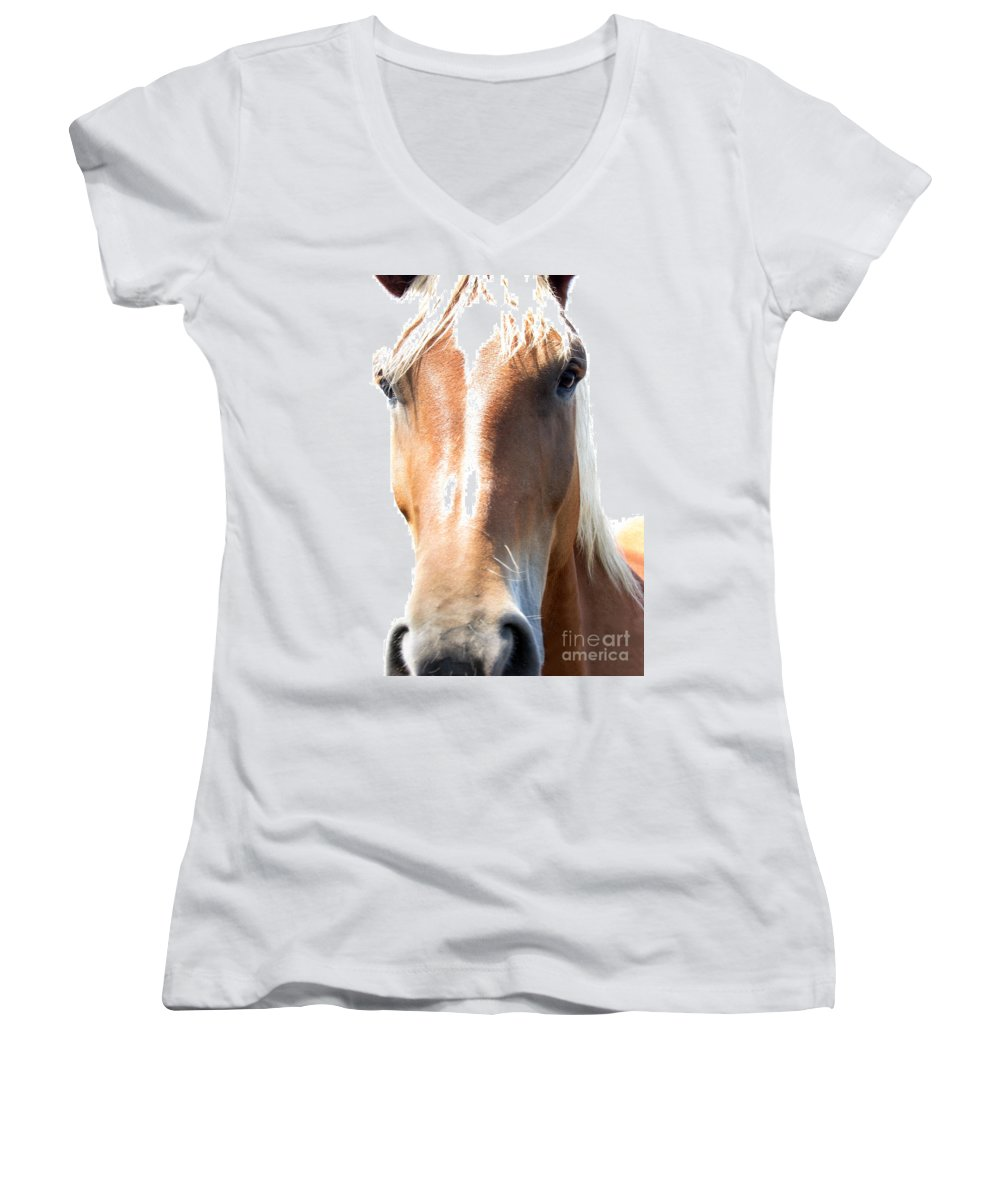 Horse Women's V-Neck (Athletic Fit) featuring the photograph Sweetie by Amanda Barcon