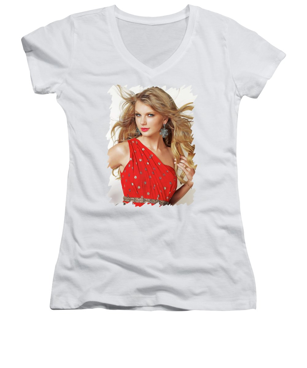 Taylor Swift Junior V-Neck T-Shirts