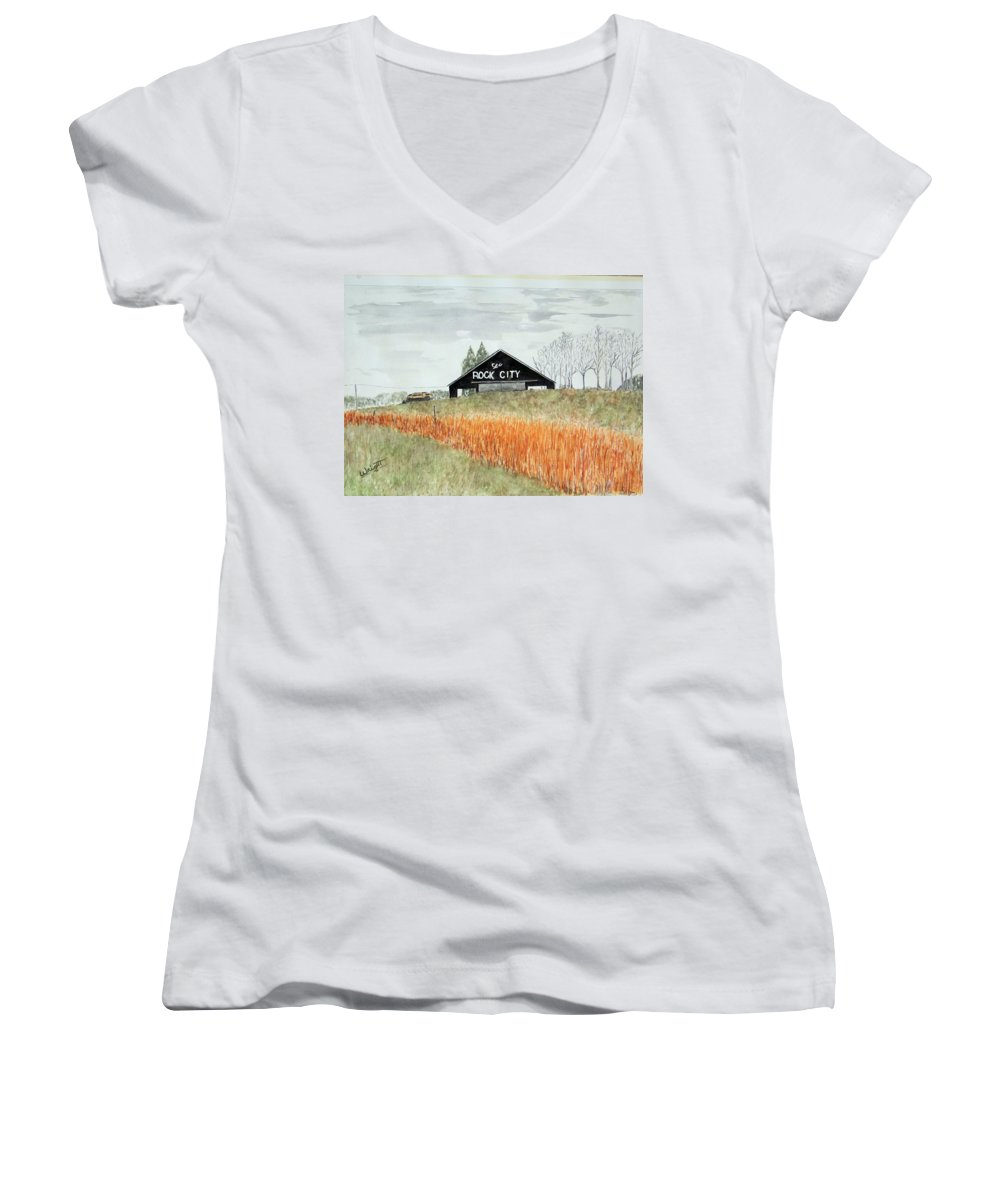 Barns Women's V-Neck (Athletic Fit) featuring the painting Tennessee Destination by Larry Wright