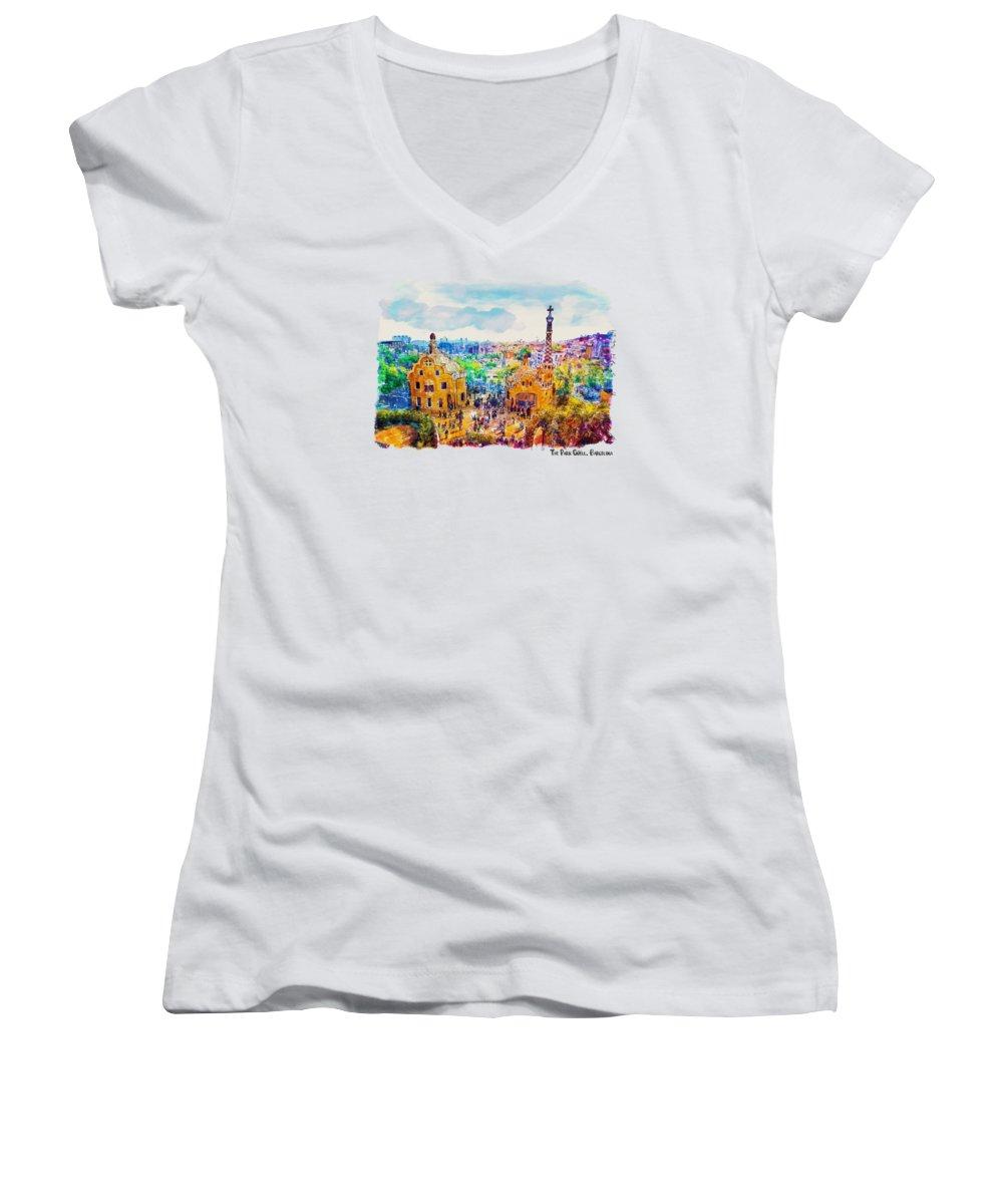 Barcelona Women's V-Neck T-Shirts