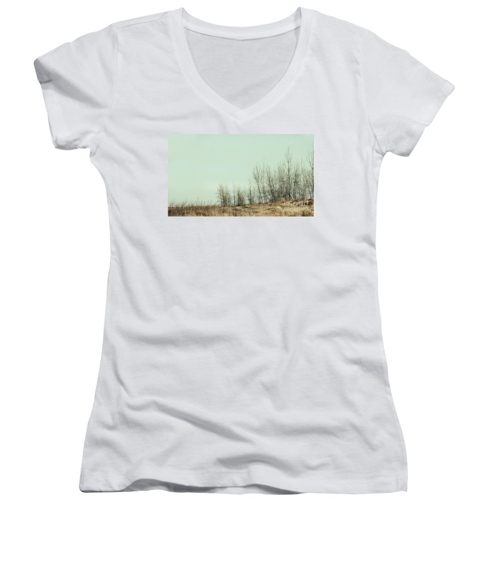 Trees Women's V-Neck T-Shirt featuring the photograph The Things We Should Have Done To End Up Somewhere Else by Dana DiPasquale