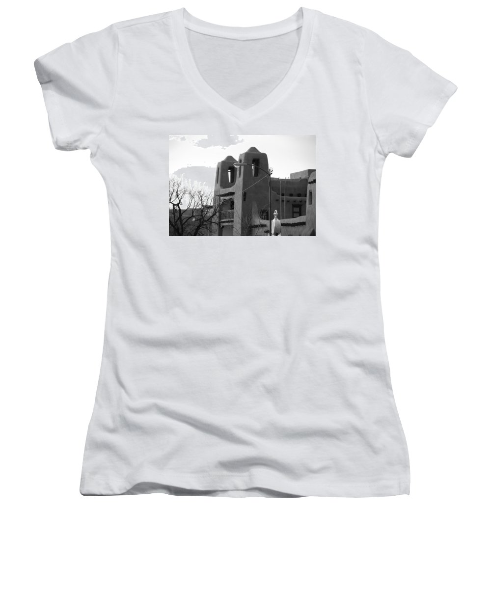 Architecture Women's V-Neck (Athletic Fit) featuring the photograph Town Hall by Rob Hans