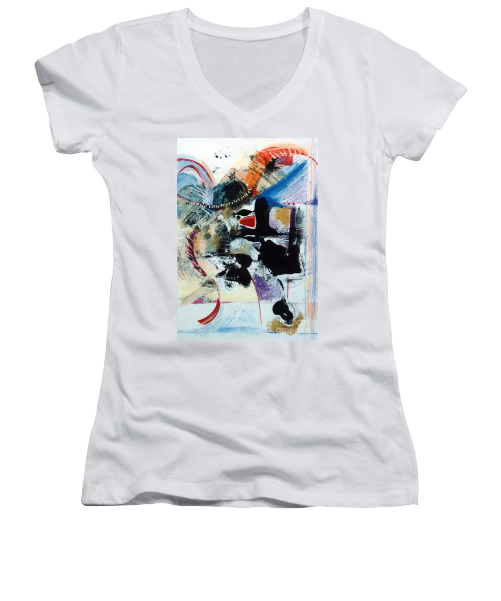 Transcendance Women's V-Neck (Athletic Fit) featuring the drawing Transcendance by Kerryn Madsen-Pietsch