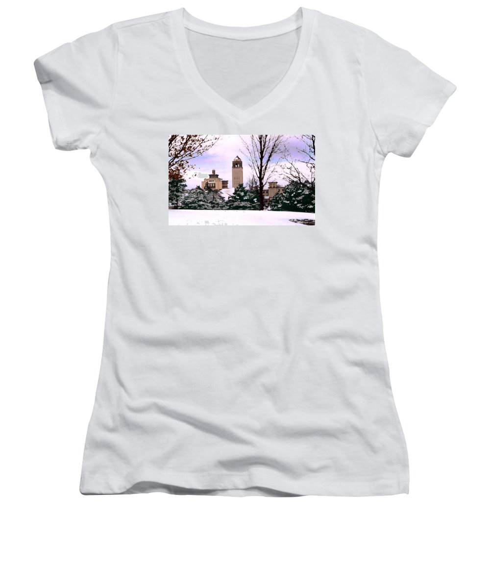 Landscape Women's V-Neck T-Shirt featuring the photograph Unity Village by Steve Karol