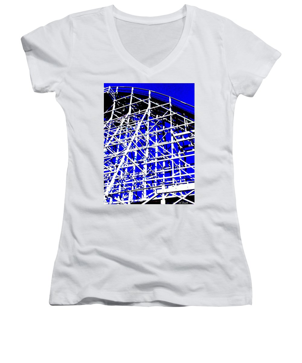 Up And Away Women's V-Neck T-Shirt featuring the photograph Up And Away by Ed Smith