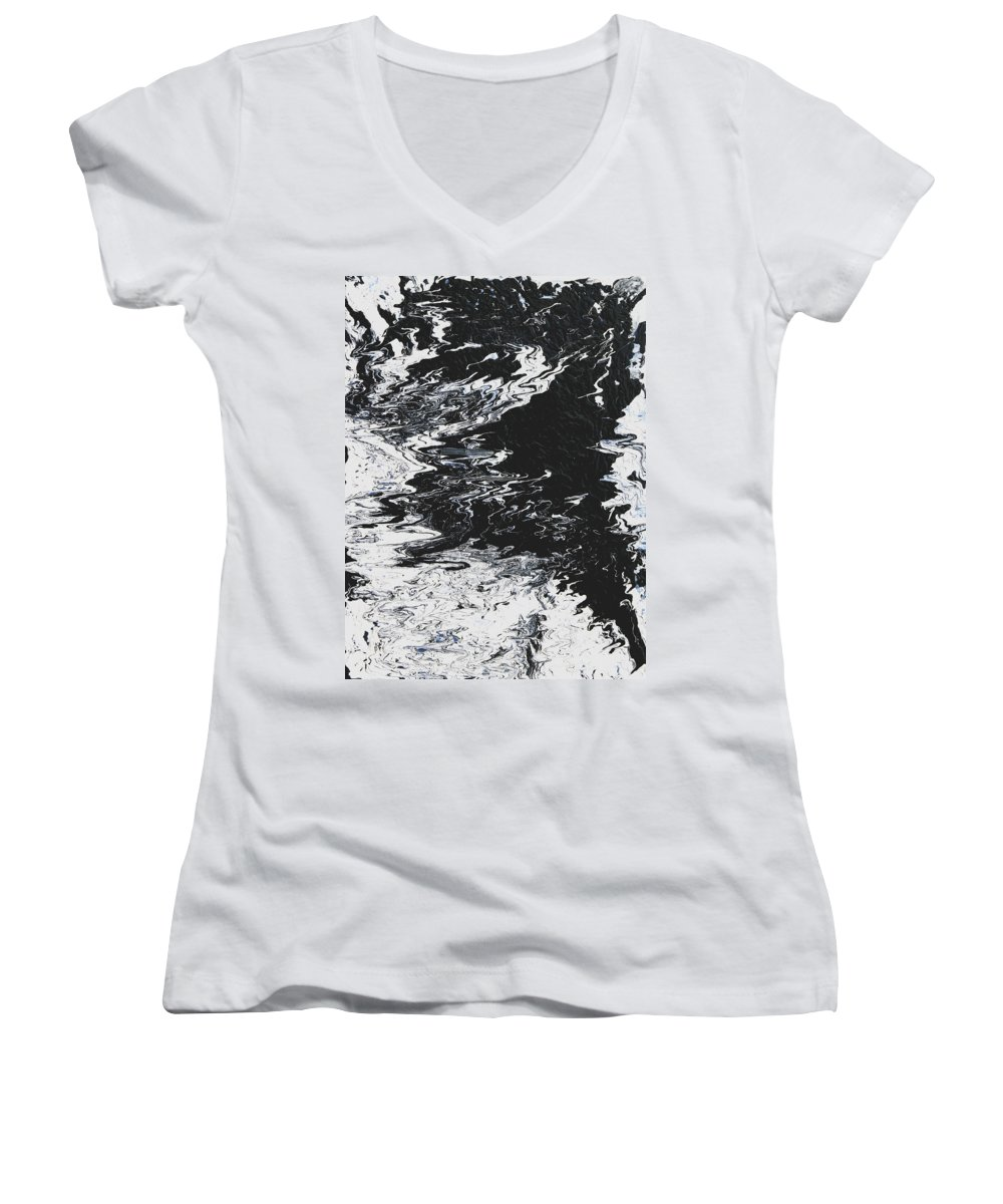 Fusionart Women's V-Neck T-Shirt featuring the painting Victory by Ralph White