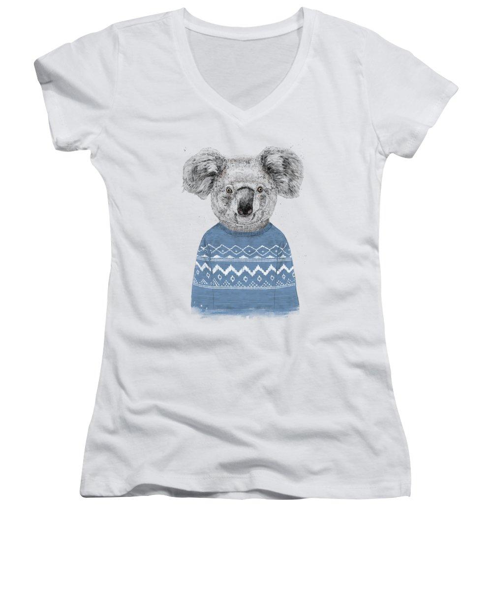 Koala Women's V-Neck T-Shirts