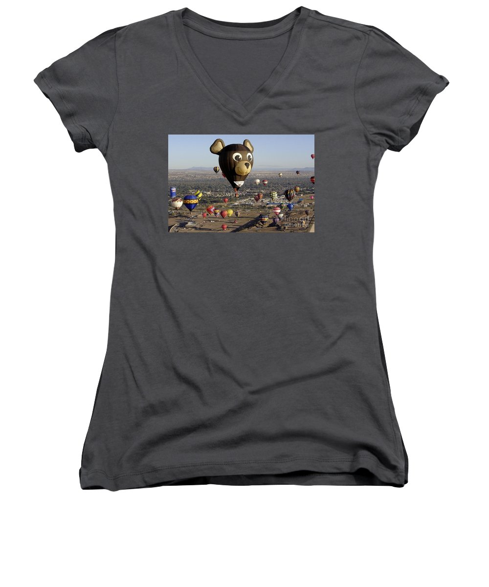 Albuquerque Women's V-Neck (Athletic Fit) featuring the photograph Bear by Mary Rogers