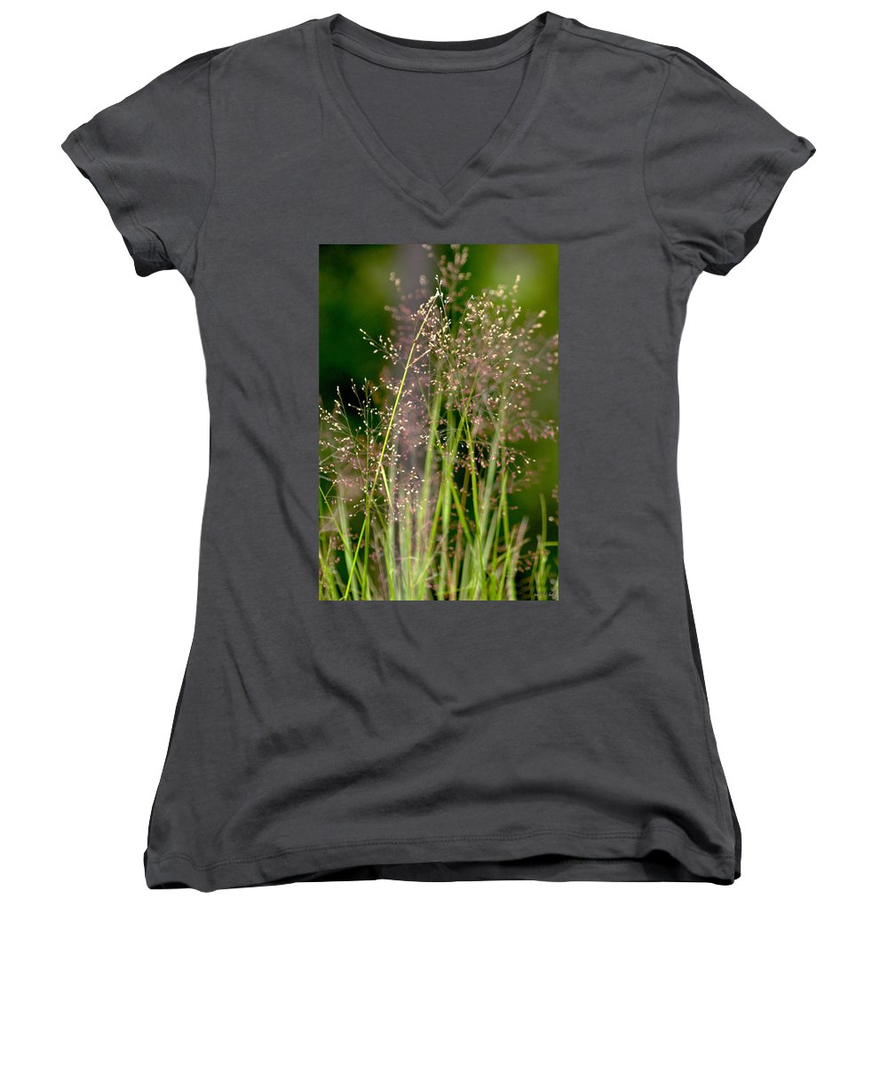 Floral Women's V-Neck (Athletic Fit) featuring the photograph Memories Of Springtime by Holly Kempe