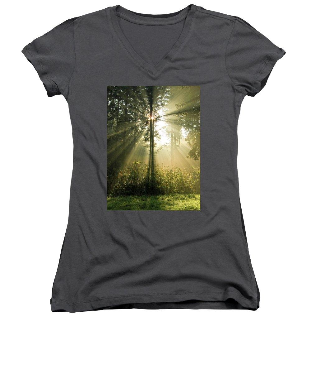 Nature Women's V-Neck (Athletic Fit) featuring the photograph Splendour by Daniel Csoka
