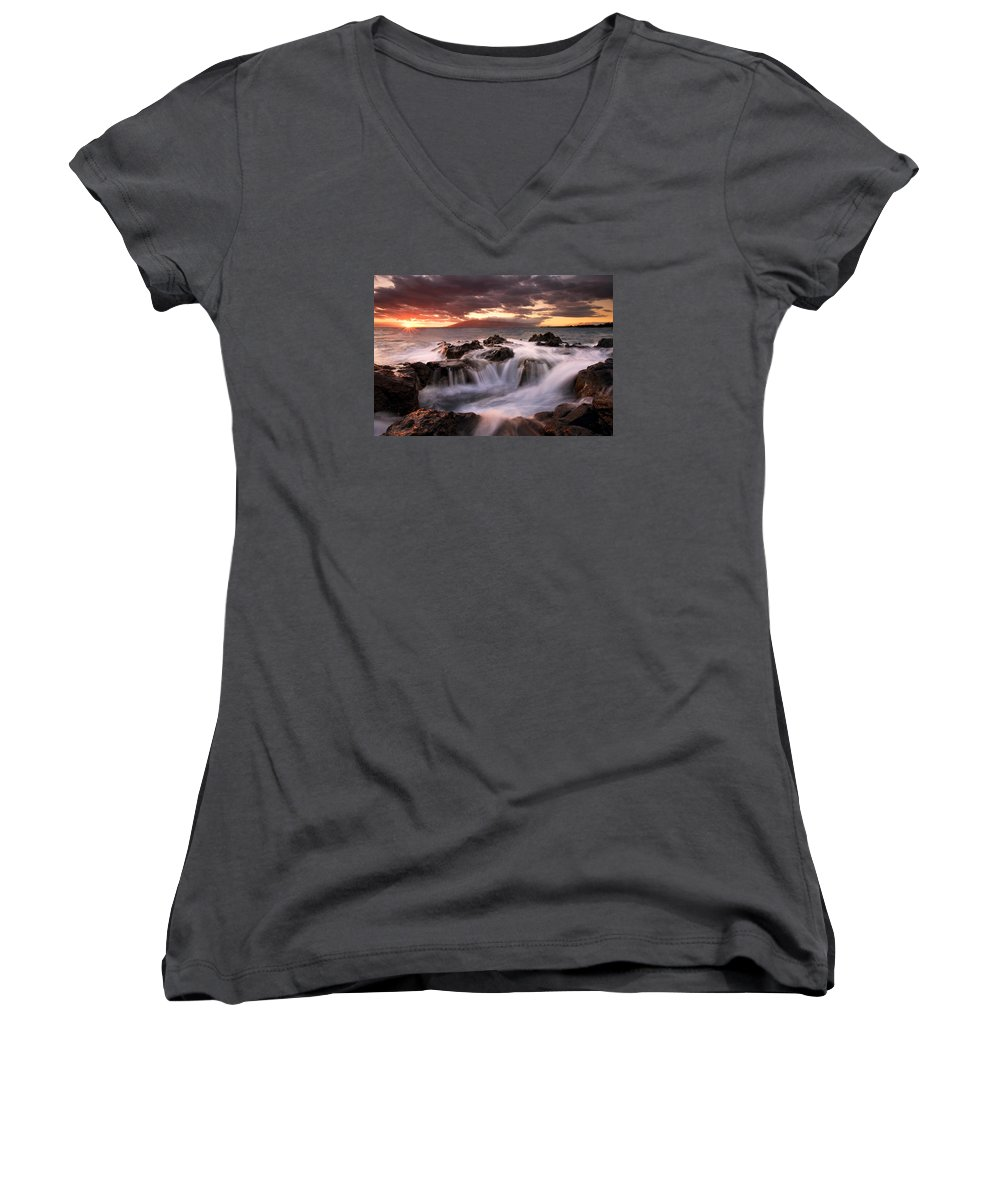 Hawaii Women's V-Neck (Athletic Fit) featuring the photograph Tropical Cauldron by Mike Dawson