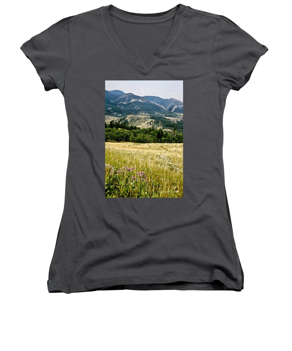 Wilderness Women's V-Neck T-Shirt featuring the photograph Washake Wilderness by Kathy McClure