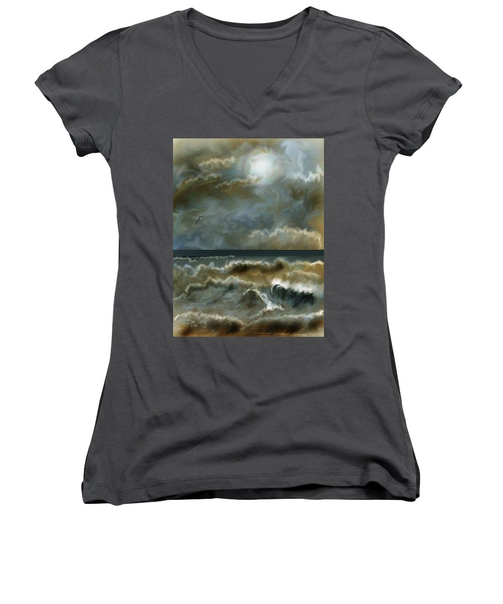 Seascape Women's V-Neck (Athletic Fit) featuring the painting After The Squall by Anne Norskog