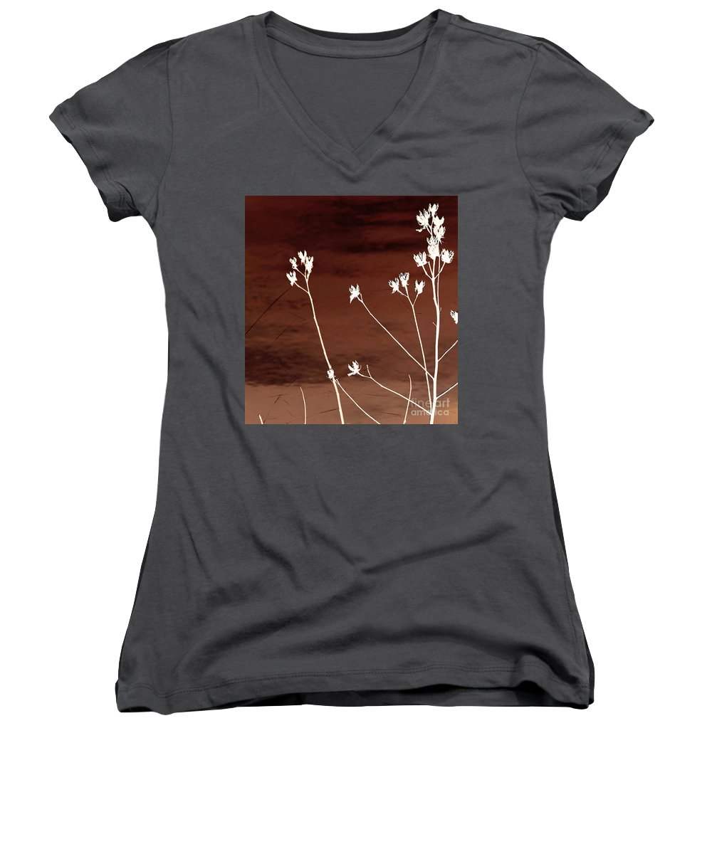 Flowers Women's V-Neck (Athletic Fit) featuring the photograph Floral by Amanda Barcon
