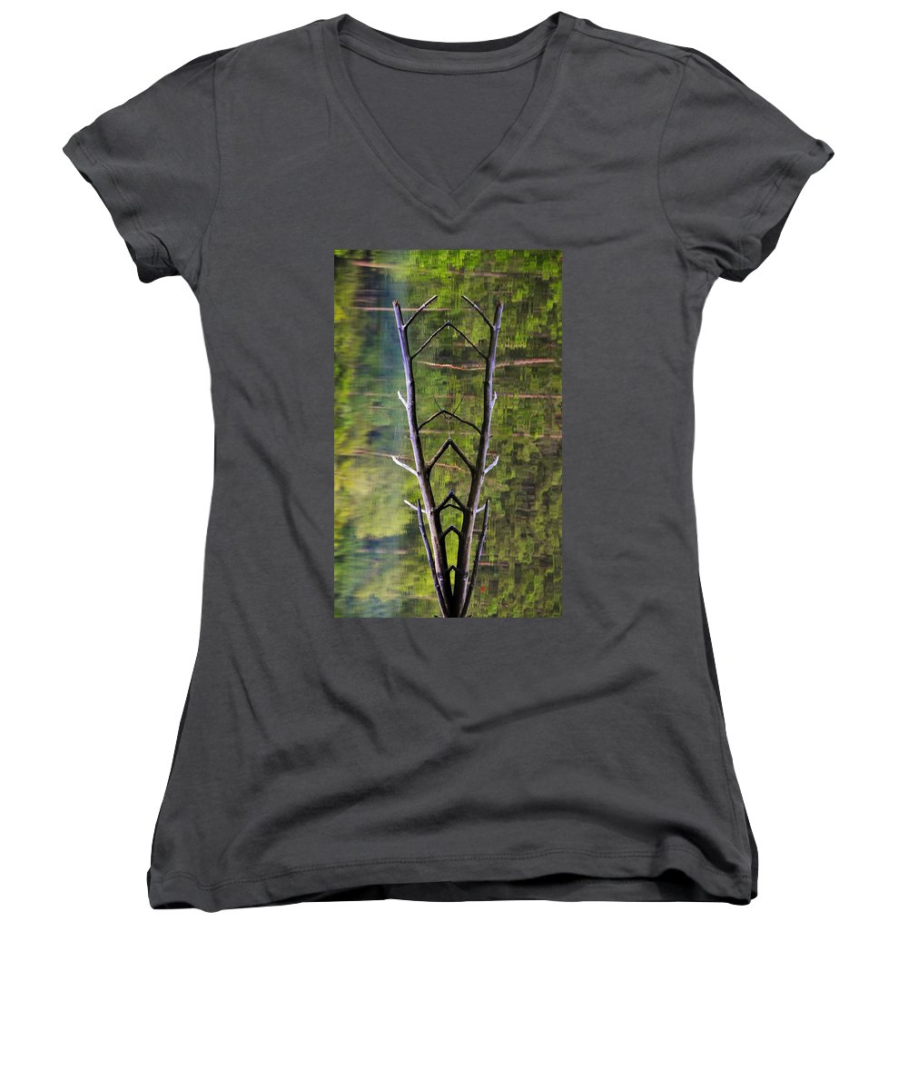 Photography Women's V-Neck (Athletic Fit) featuring the photograph Jacob's Ladder by Skip Hunt