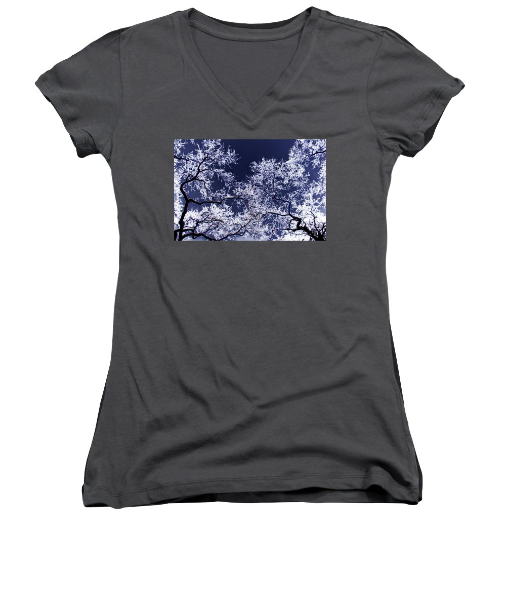 Tree Women's V-Neck (Athletic Fit) featuring the photograph Tree Fantasy 17 by Lee Santa
