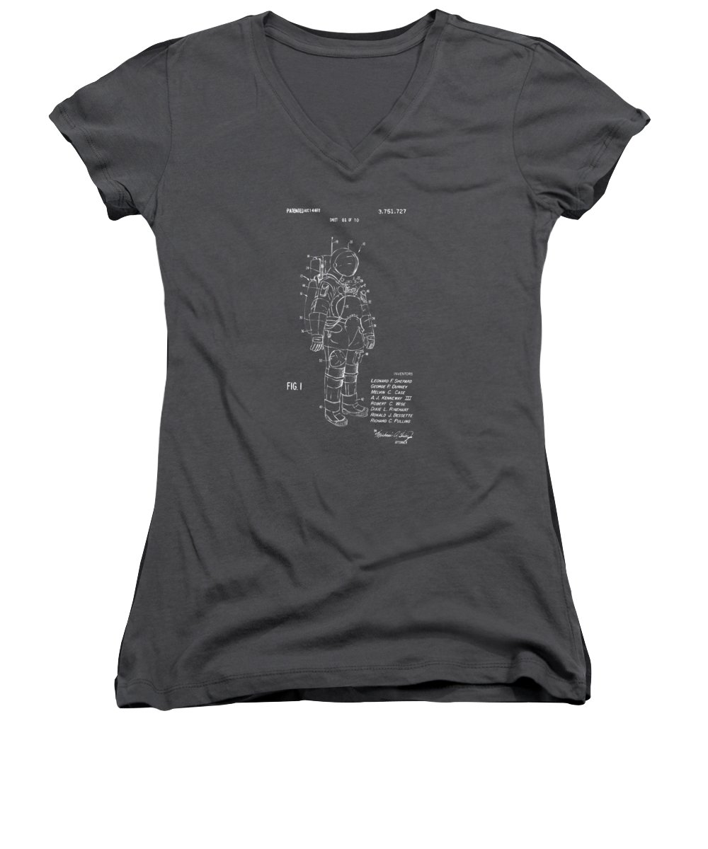 Astronauts Women's V-Neck T-Shirts