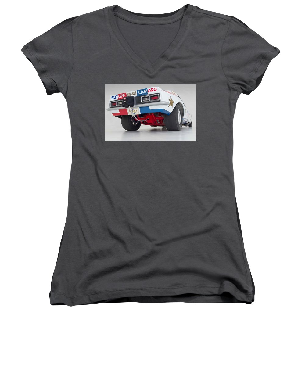 Funny Car Women's V-Neck featuring the photograph Funny Car by Jackie Russo