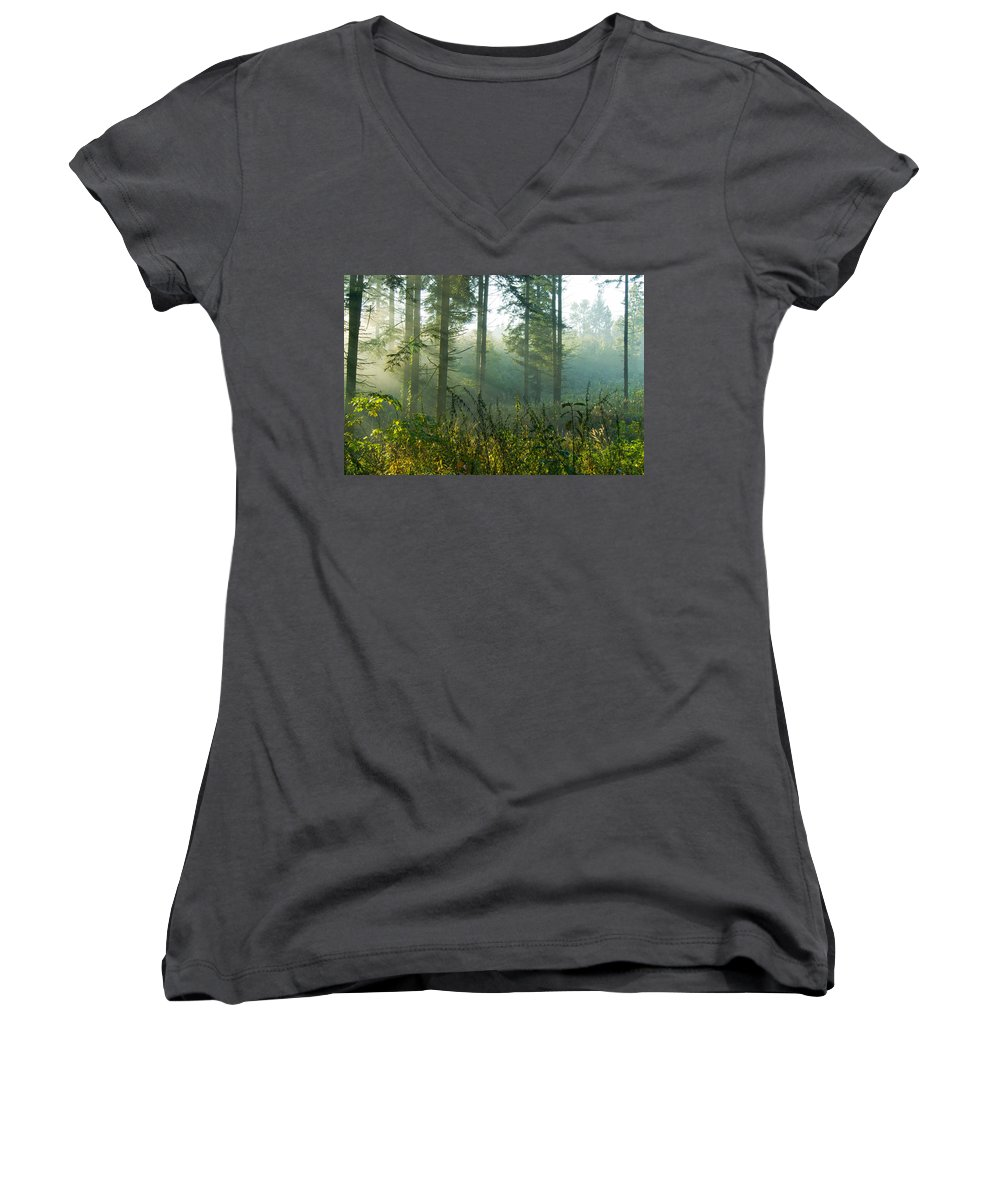 Nature Women's V-Neck (Athletic Fit) featuring the photograph A New Day Has Come by Daniel Csoka