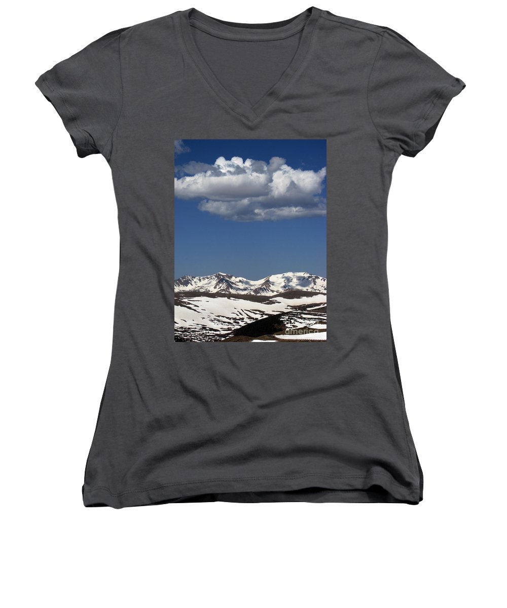 Colorado Women's V-Neck (Athletic Fit) featuring the photograph Above It All by Amanda Barcon