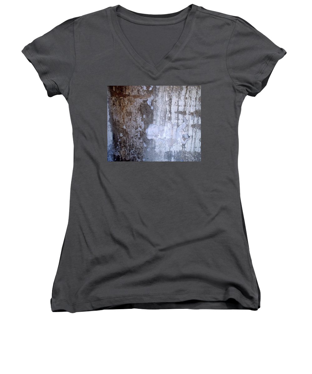 Industrial. Urban Women's V-Neck (Athletic Fit) featuring the photograph Abstract Concrete 8 by Anita Burgermeister