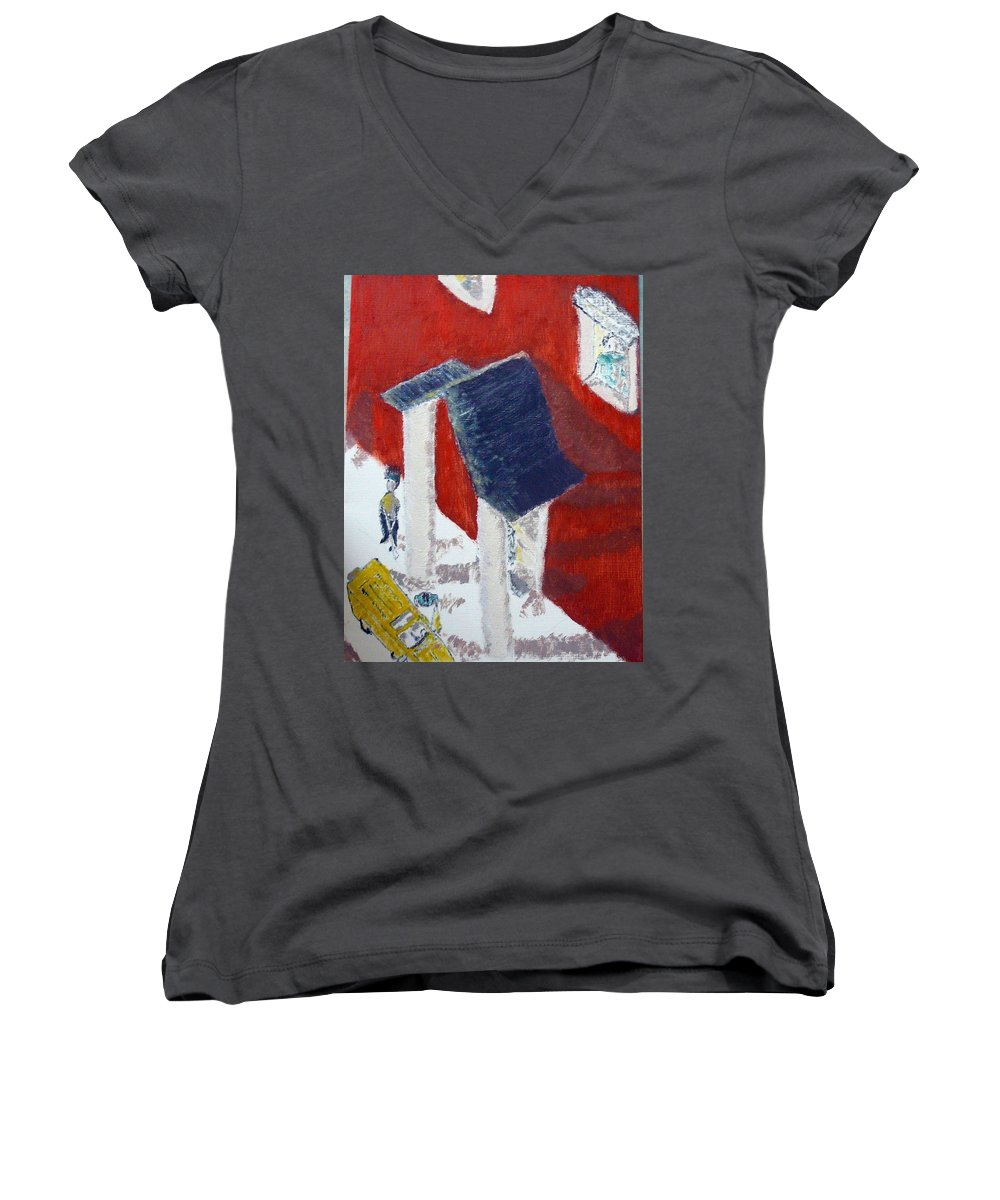 Social Realiism Women's V-Neck T-Shirt featuring the painting Accessories by R B