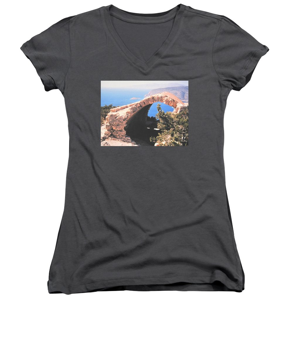 Greece Women's V-Neck (Athletic Fit) featuring the photograph Across To Turkey by Ian MacDonald