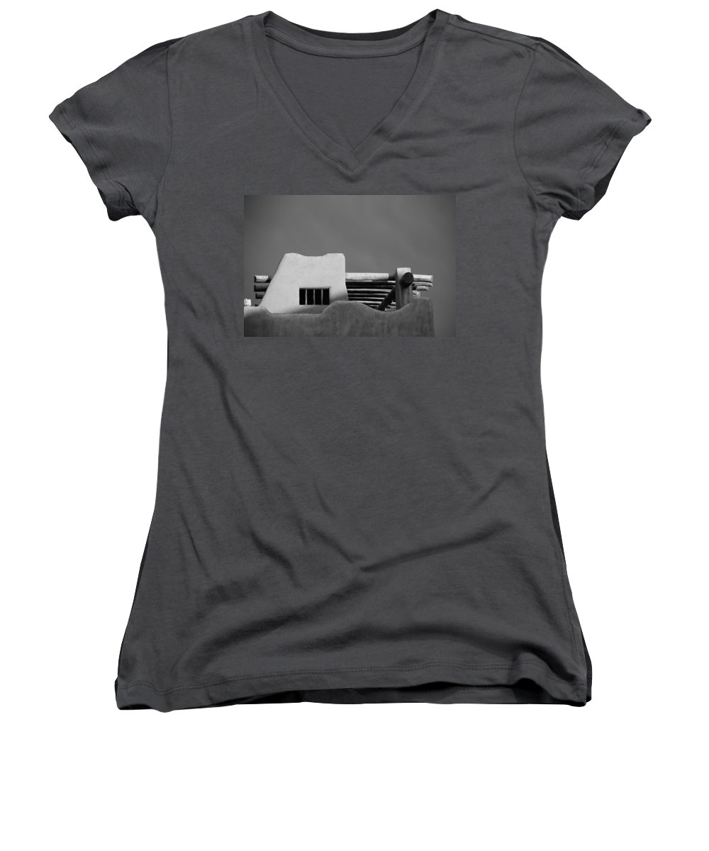Architecture Women's V-Neck (Athletic Fit) featuring the photograph Adobe Turrett by Rob Hans